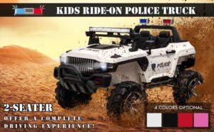 Aosom-12V-Kids-Electric-Toy-Police-Car