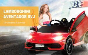 Uenjoy 12V Lamborghini Aventador SVJ Toy Car